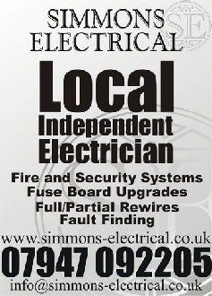 Simmons electrical electrician cheltenham gloucestershire